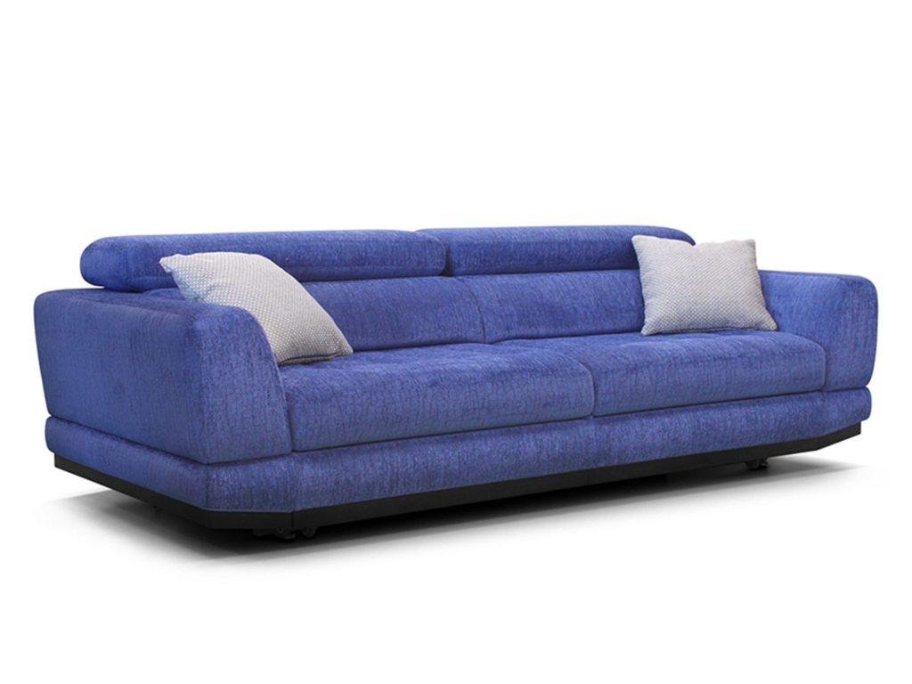 фиолетовый прямой диван